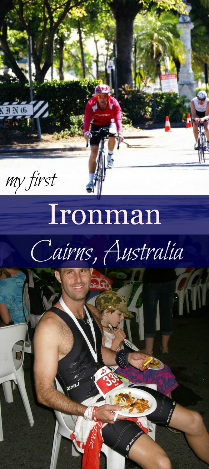 My first ironman triathlon in tropical Cairns Australia. Swim, ride and bike in Cairns and Port Douglas in tropical Far North Queensland