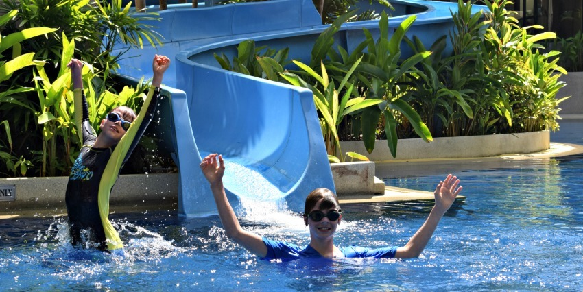 Gentle water slides are great fun for the whole family