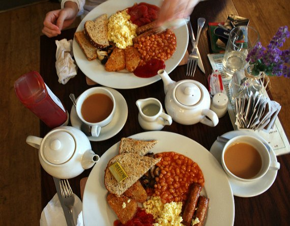 traditional full english breakfast