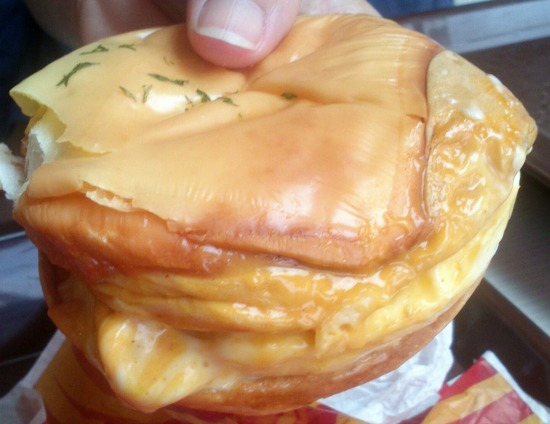 egg cheese burger kfc