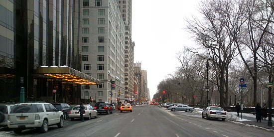 Getting around deserted New York streets