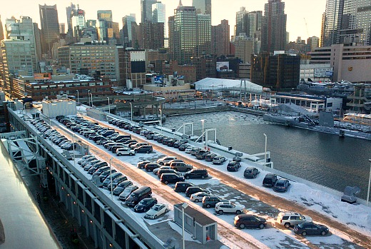 A very chilly welcome to mid town Manhattan after the transatlantic cruise.