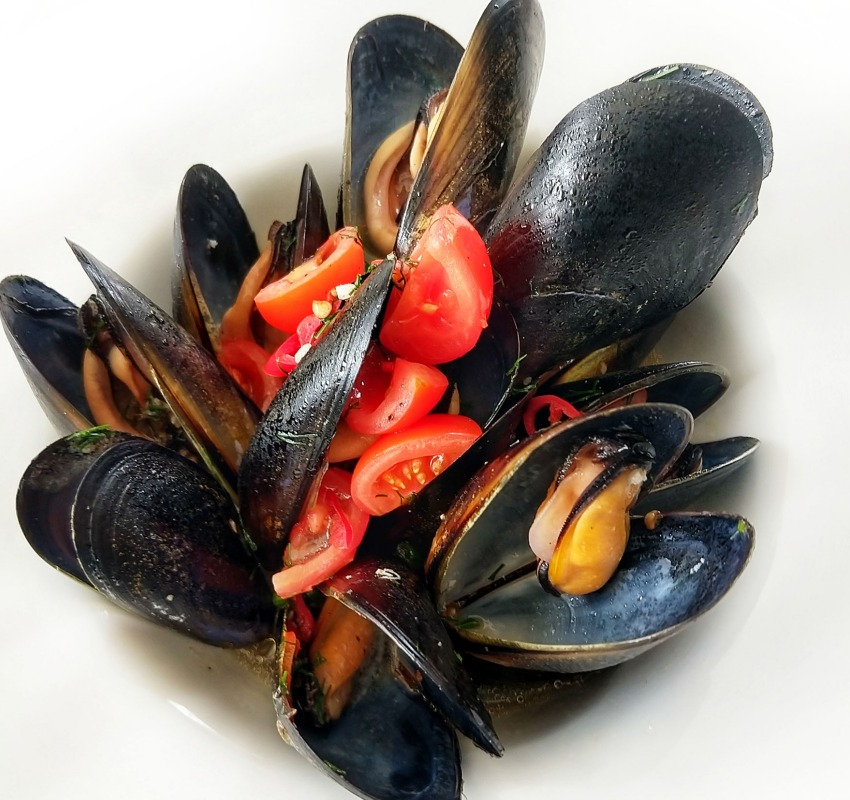 best seafood in Port Douglas mussels at Sassi