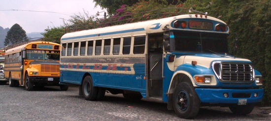 dilapidated buses