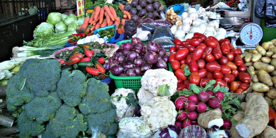 Antigua market, Fruit and vegetable stand