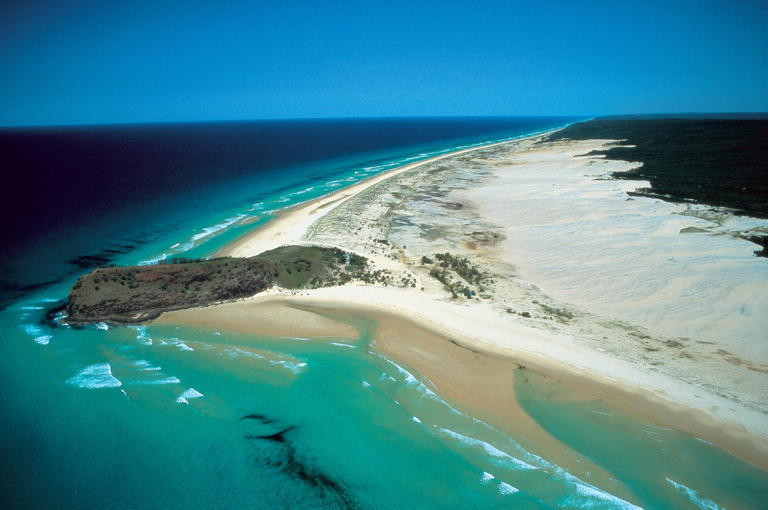 Aerial_Indian_Head Fraser Island Sunset Safaris