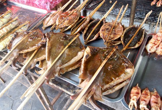 Fresh local Cambodian food while you travel.