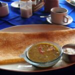 World Food Photos: Indian Food. Dosa with Sambar and Coconut Chutney. South India.
