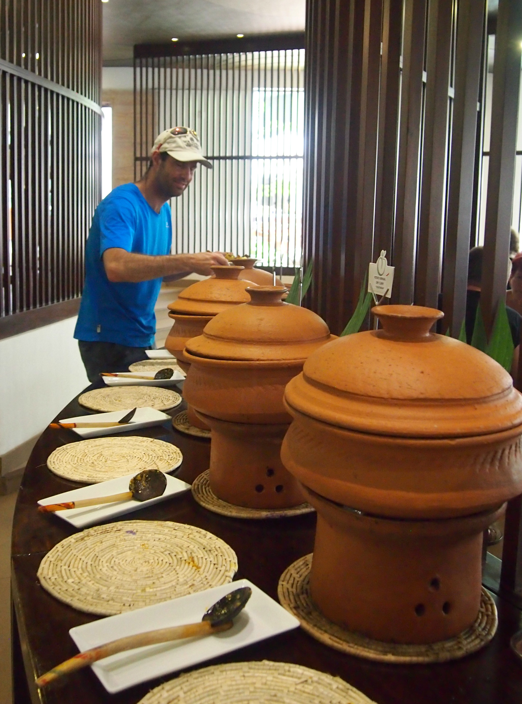breakfast buffet in Sri Lanka. Breakfast dishes