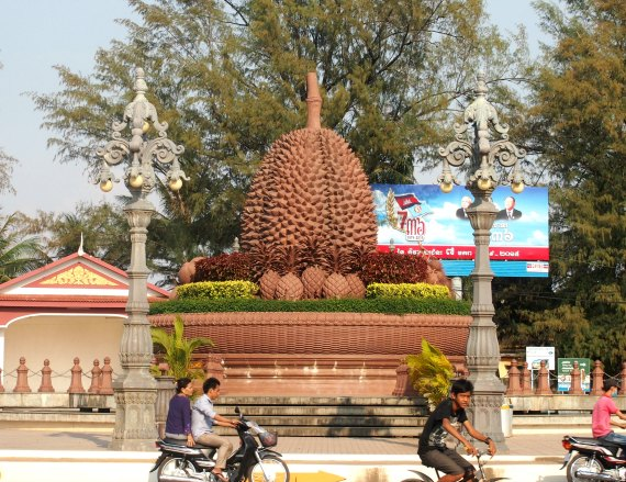 Sri Lankan Fruits. Durian. Durian, the king of fruits . In Kampot, Cambodia, it's so important and inspires such passion, that they built a durian statue.
