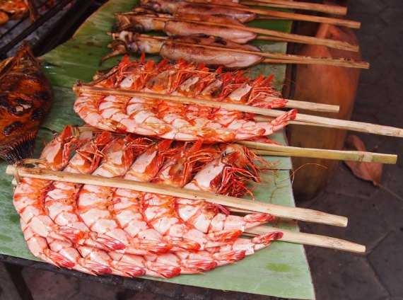 Monster prawns Kep Cambodia