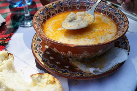 traditional tripe soup from the Balkans