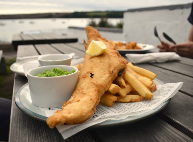 Wales Food Tour. Pembrokeshire Street Food fish and chips Wales Pembrokeshire