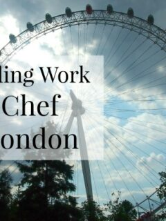 finding work as a chef in London