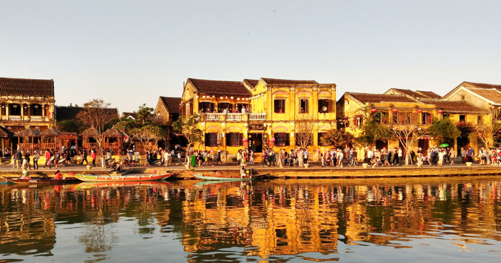 Beautiful Hoi An Ancient Town. Hue to Hoi An