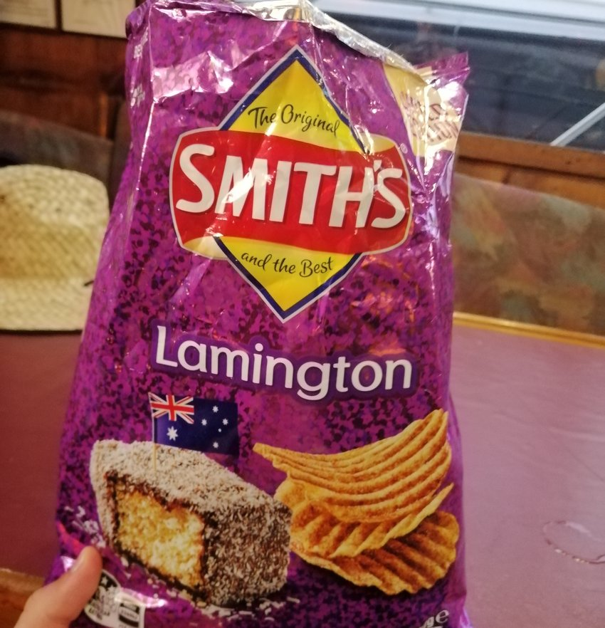 Traditional Aussie Food Lamingtons Smith's Crisps
