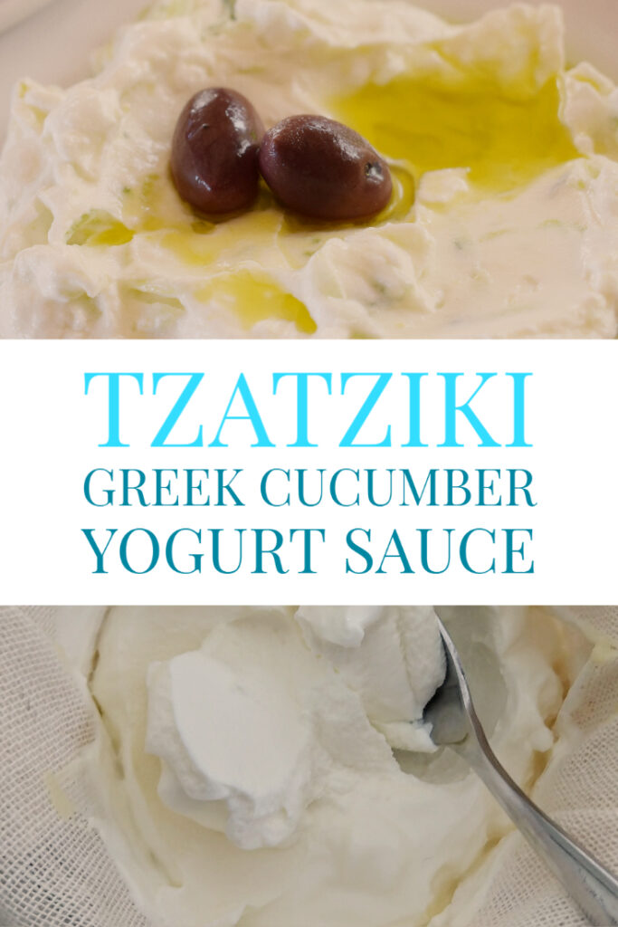 tzatziki greek cucumber yogurt sauce