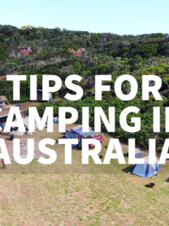 tips for camping in australia